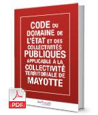 Visuel Code du domaine de l'Etat et des collectivités publiques applicable à la collectivité territoriale de Mayotte