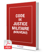 Visuel Code de justice militaire
