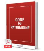Visuel Code du patrimoine