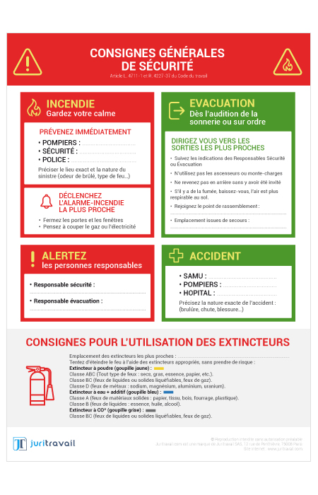 a497cc24751 Consignes Générales de Sécurité   panneau d affichage obligatoire