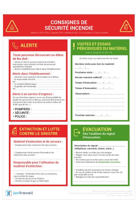 b3a27f98a10 Consignes de Sécurité Incendie   panneau d affichage obligatoire