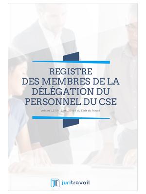 Visuel Registre des membres de la délégation du personnel du CSE